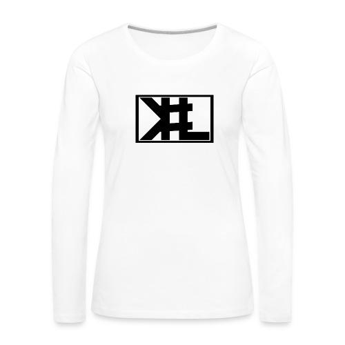 kllogga2 png - Långärmad premium-T-shirt dam