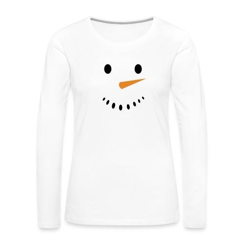 Bonhomme de neige Noël Hiver - T-shirt manches longues Premium Femme