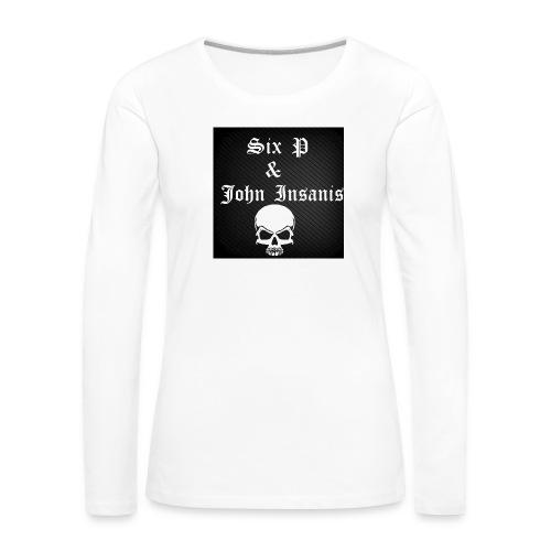 Six P & John Insanis SKULL Paita - Naisten premium pitkähihainen t-paita