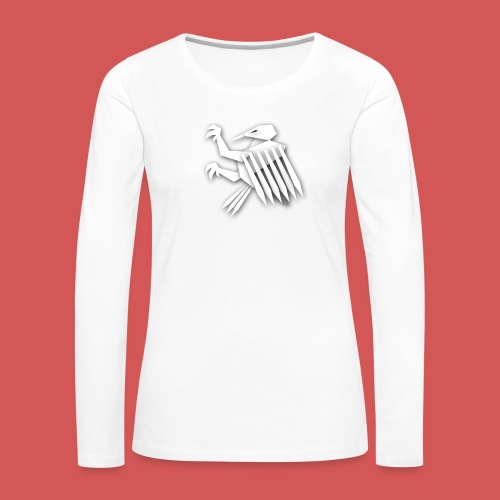 Nörthstat Group ™ White Alaeagle - Women's Premium Longsleeve Shirt