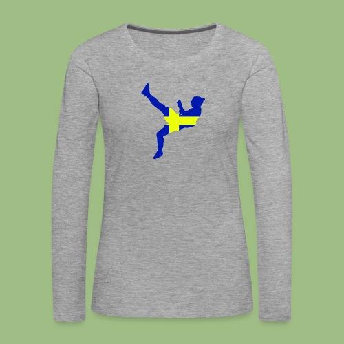 Ibra Sweden flag - Långärmad premium-T-shirt dam