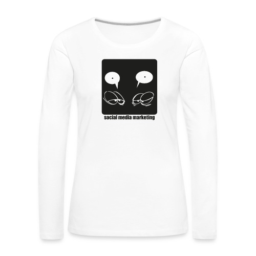 Sozial Media Marketing - Frauen Premium Langarmshirt