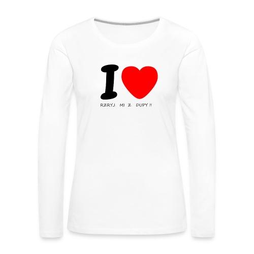 Bluzka męska - Koszulka damska Premium z długim rękawem