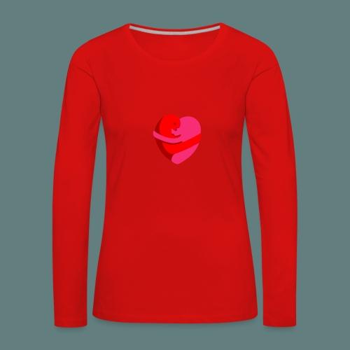 hearts hug - Maglietta Premium a manica lunga da donna