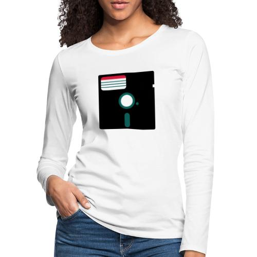 5 1/4 inch floppy disk - Naisten premium pitkähihainen t-paita