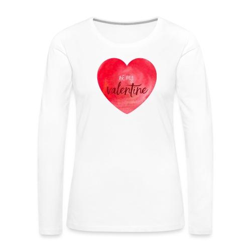 Cœur st.valentin - T-shirt manches longues Premium Femme