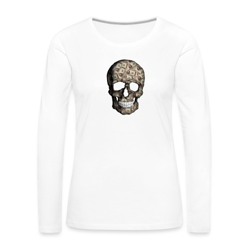 Skull Money - Camiseta de manga larga premium mujer