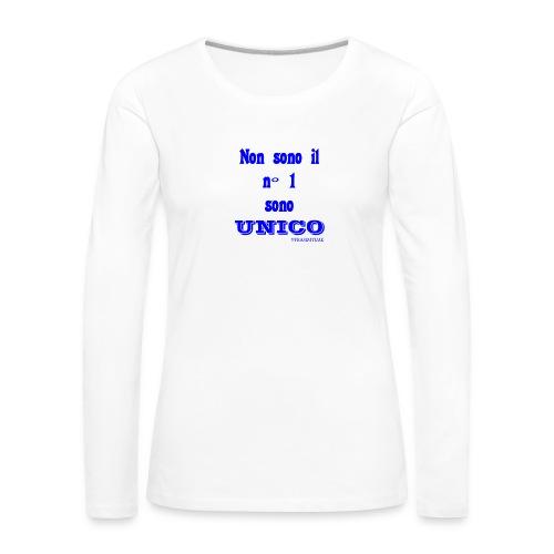 Unico #FRASIMTIME - Maglietta Premium a manica lunga da donna