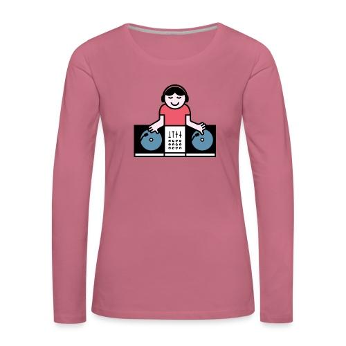 Vinyl DJ - Vrouwen Premium shirt met lange mouwen