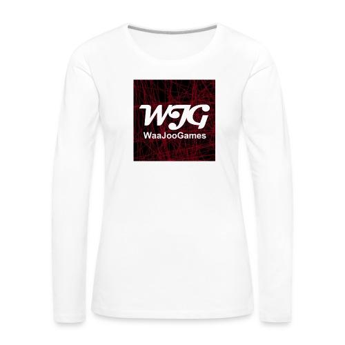 T-shirt WJG logo - Vrouwen Premium shirt met lange mouwen