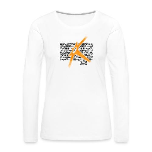 Palazzo Textblock auf weiss/on white - Frauen Premium Langarmshirt