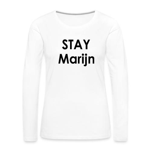 stay marijn black - Vrouwen Premium shirt met lange mouwen