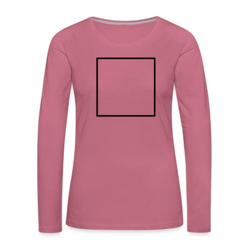 Square t shirt black - Vrouwen Premium shirt met lange mouwen