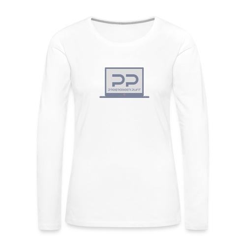 muismat met logo - Vrouwen Premium shirt met lange mouwen