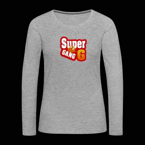 SuperG-Gang - Dame premium T-shirt med lange ærmer