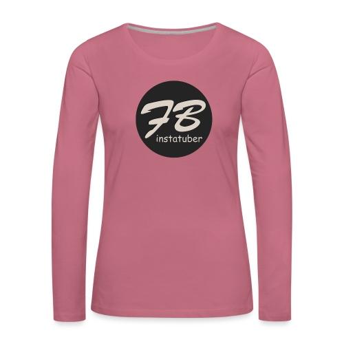 TSHIRT-INSTAGRAM - Vrouwen Premium shirt met lange mouwen