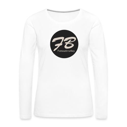TSHIRT-FAMOUSBRUNKEY - Vrouwen Premium shirt met lange mouwen