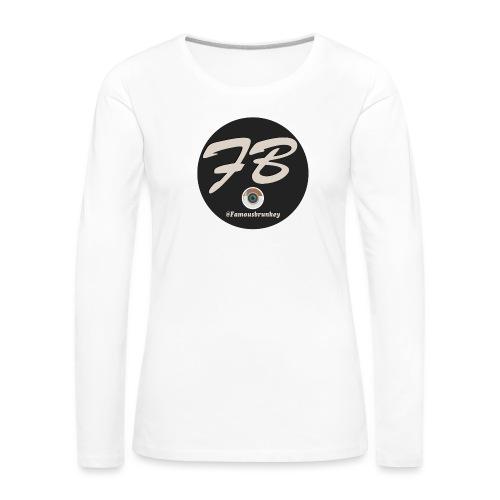 TSHIRT-INSTATUBER-METLOGO - Vrouwen Premium shirt met lange mouwen