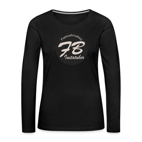 TSHIRT-YOUTUBER-EXTRA - Vrouwen Premium shirt met lange mouwen