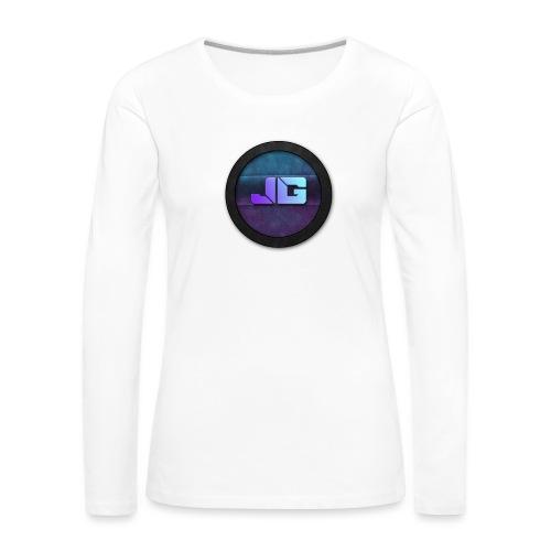 shirt met logo - Vrouwen Premium shirt met lange mouwen
