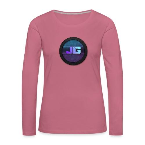 Telefoon hoesje 5/5S met logo - Vrouwen Premium shirt met lange mouwen