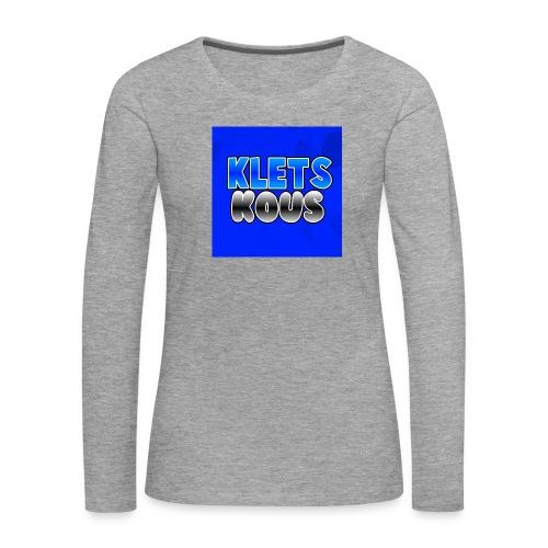 Kletskous Muismat - Vrouwen Premium shirt met lange mouwen