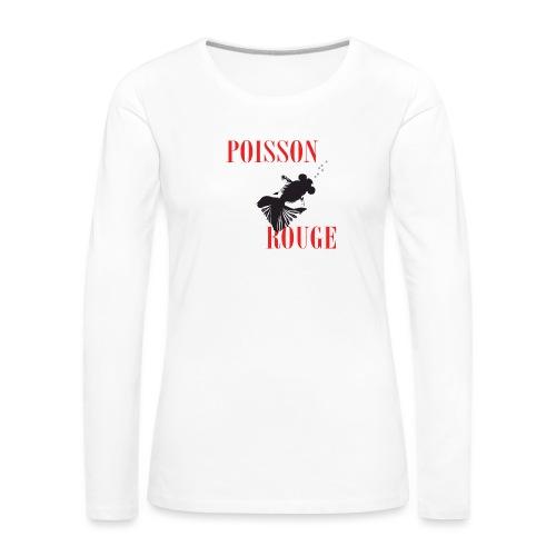 poisson rouge - T-shirt manches longues Premium Femme