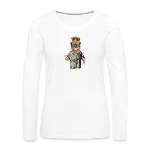 Urlaubslöwe - Frauen Premium Langarmshirt