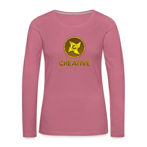 Creative logo shirt - Dame premium T-shirt med lange ærmer