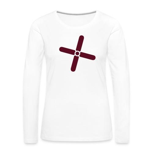 Break Even Plus - Dame premium T-shirt med lange ærmer