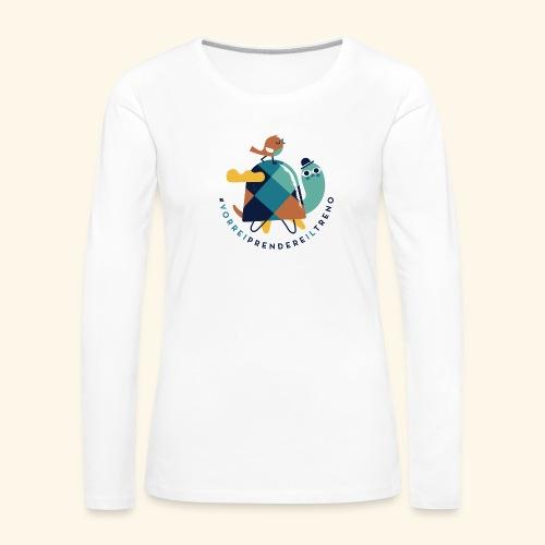 Tartaruga e uccellino - Maglietta Premium a manica lunga da donna