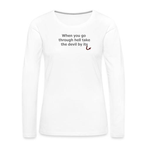 diable - T-shirt manches longues Premium Femme