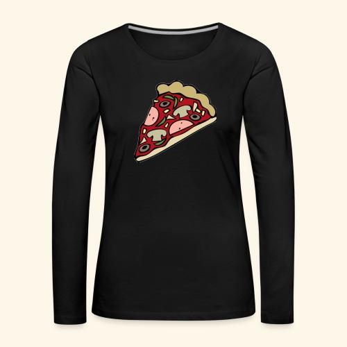 Pizza - T-shirt manches longues Premium Femme