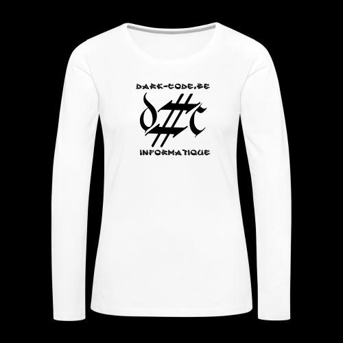 Dark-Code Black Gothic Logo - T-shirt manches longues Premium Femme