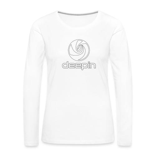deepinlogotrasparente - Maglietta Premium a manica lunga da donna