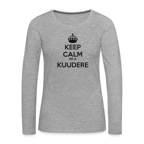 Kuudere keep calm - Women's Premium Longsleeve Shirt