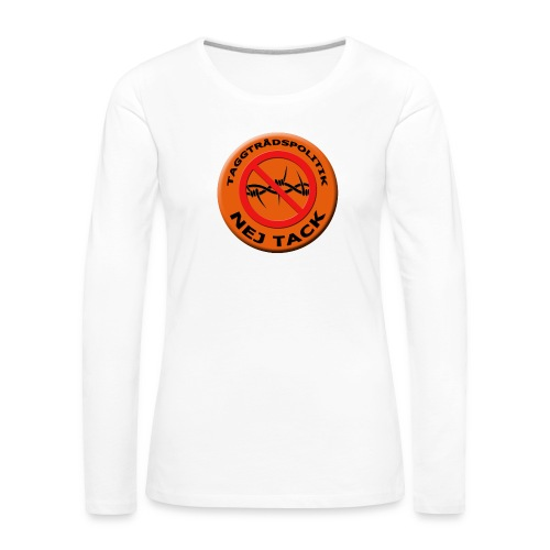 Taggtrådspolitik Ny - Långärmad premium-T-shirt dam