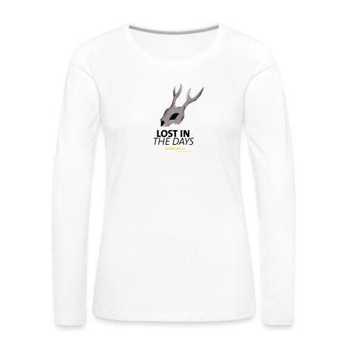 crane sky visu t shirt2 png - T-shirt manches longues Premium Femme