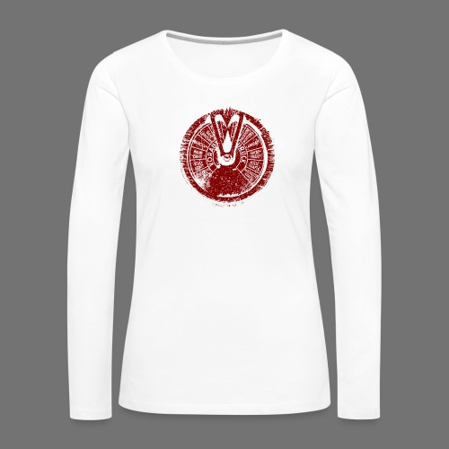 Maschinentelegraph (czerwona oldstyle) - Koszulka damska Premium z długim rękawem