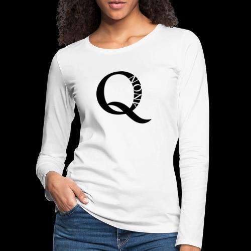Q Anon Q-Anon Original Logo - Frauen Premium Langarmshirt