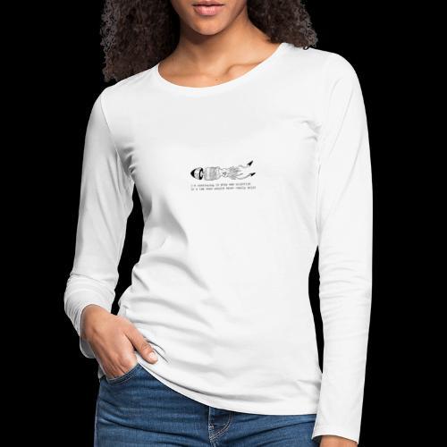 hybrid 0001 - Maglietta Premium a manica lunga da donna