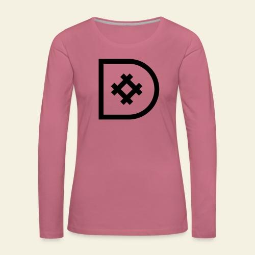 Icona de #ildazioètratto - Maglietta Premium a manica lunga da donna