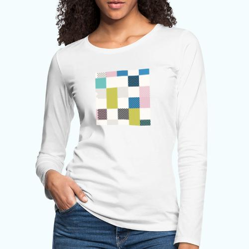 Abstract art squares - Women's Premium Longsleeve Shirt
