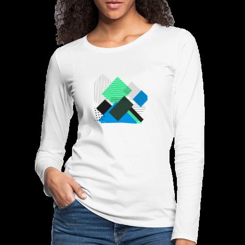 Abstract rectangles pastel - Women's Premium Longsleeve Shirt
