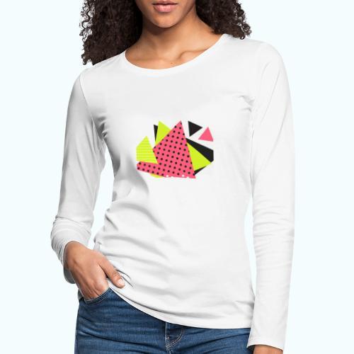 Neon geometry shapes - Women's Premium Longsleeve Shirt