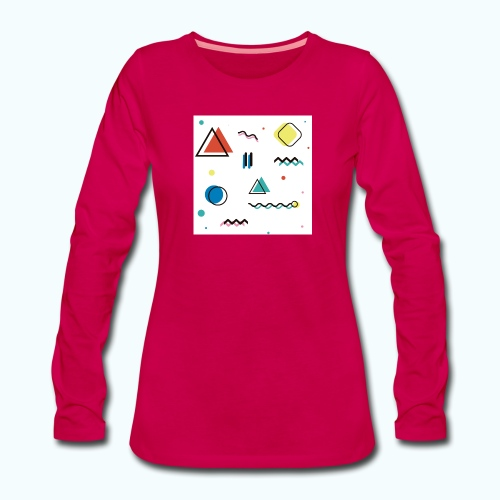 Abstract geometry - Women's Premium Longsleeve Shirt