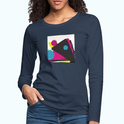 Abstract vintage shapes pink - Women's Premium Longsleeve Shirt