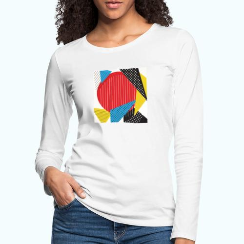Geometry collage Abstract colors - Women's Premium Longsleeve Shirt