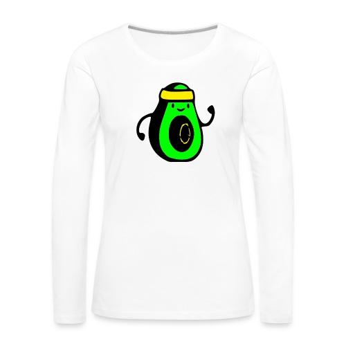 aguacate ninja - Camiseta de manga larga premium mujer