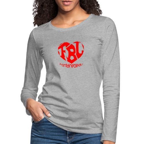 Coeur de Fontainebleau - T-shirt manches longues Premium Femme